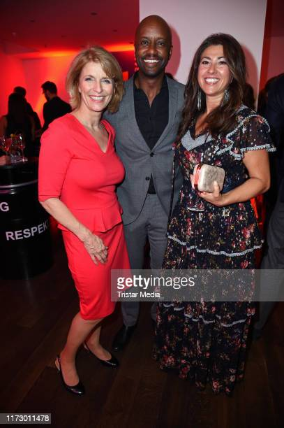 Susanne Holst Yared Dibaba and his wife Fernanda de Sousa Dibaba attend the 'Helden des Alltags' Gala at Theater Kehrwieder on October 1 2019 in...