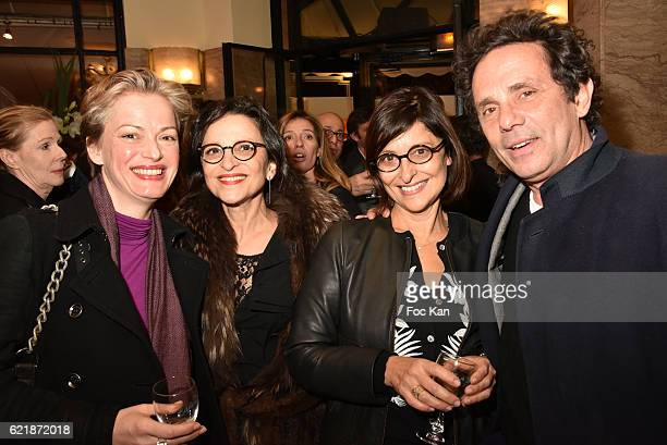 Susanne Junker Brigitte Fitoussi Michele Fitoussi and Gerald Cohen from Baby Brand attend the 'Prix De Flore 2016 ' Literary Prize Winner...