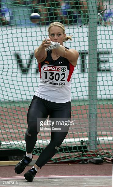 Susanne Keil of Germany competes during the Women's Hammer throw Qualifying Round on day one of the 19th European Athletics Championships at the...