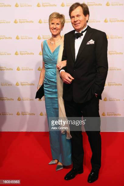 Susanne Klatten and her husband Jan Klatten arrive for the 'Ball des Sports 2013' at RheinMainHallen on February 2 2013 in Wiesbaden Germany