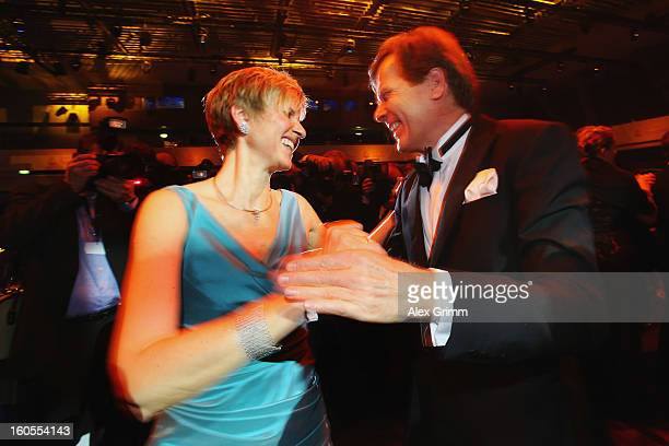 Susanne Klatten and her husband Jan Klatten dance during the 'Ball des Sports 2013' at RheinMainHallen on February 2 2013 in Wiesbaden Germany