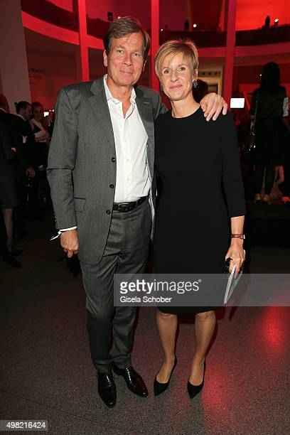 Susanne Klatten and her husband Jan Klatten during the PIN Party 4 Art at Pinakothek der Moderne on November 21 2015 in Munich Germany