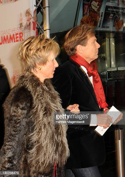 Susanne Klatten and Jan Klatten attend 'Eine Ganz Heisse Nummer' Germany premiere at the Mathaeser Filmpalast on October 25 2011 in Munich Germany