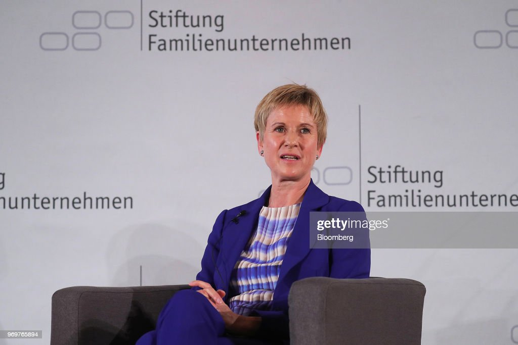 European Finance Ministers And Key Speakers At German Foundation Of Family Businesses : News Photo