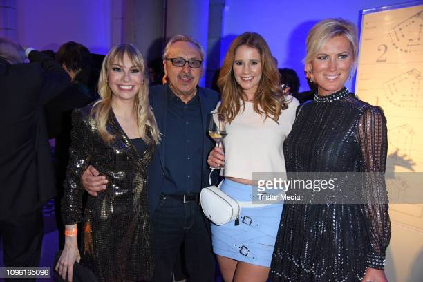 Susanne Klehn, Wolfgang Stumph, Mareile Hoeppner and Kamilla Senjo during the Blue Hour Party hosted by ARD during the 69th Berlinale International...