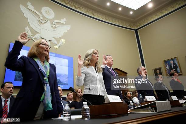 Susanne Lyons acting CEO of the United States Olympic Committee Kerry Perry president and CEO of USA Gymnastics Tim Hinchey president and CEO of USA...