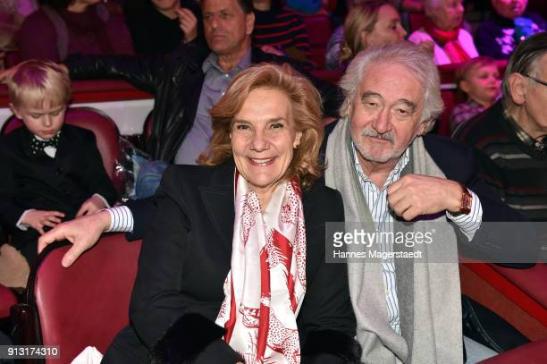 Susanne Porsche and her partner Xaver Schwarzenberger during Circus Krone celebrates premiere of 'Hommage' at Circus Krone on February 1 2018 in...