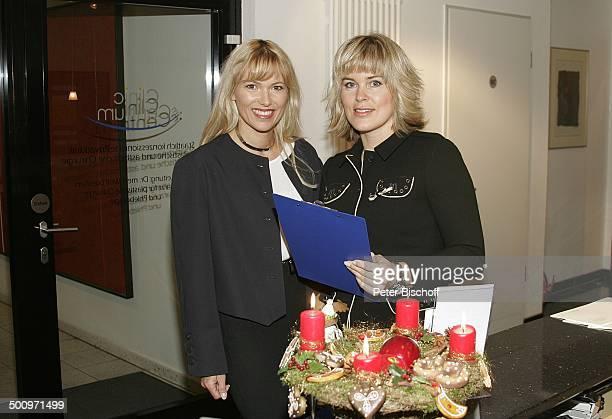 Susanne Schumm Elke Schwiegel Clinic im Centrum Münster Misses Deutschland 2004 Klinik SchönheitsOP Adventskranz Advent Adventszeit Weihnachten...