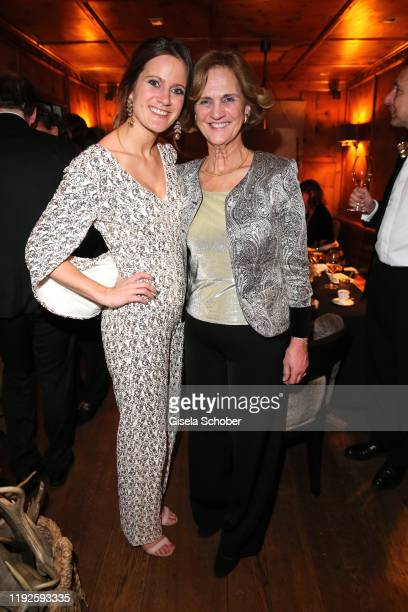 Susanne Seehofer and her mother Karin Seehofer during SaskiaGreipl's 50th birthday celebration at Feinkost Kaefer on January 8, 2020 in Munich,...