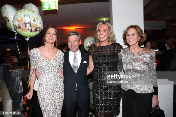 Susanne Seehofer and her partner Christian Auer, Saskia Greipl-Kostantinidis and Karin Seehofer during Saskia Greipl's 50th birthday celebration at...