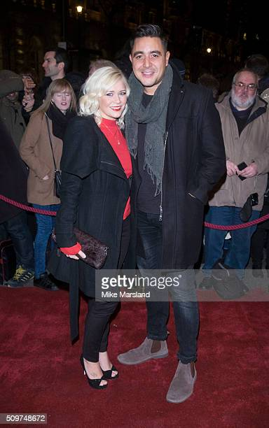 Susanne Shaw and Noel Sullivan attend the World Premiere of 'End Of Longing' written by and starring Matthew Perry at Playhouse Theatre on February...