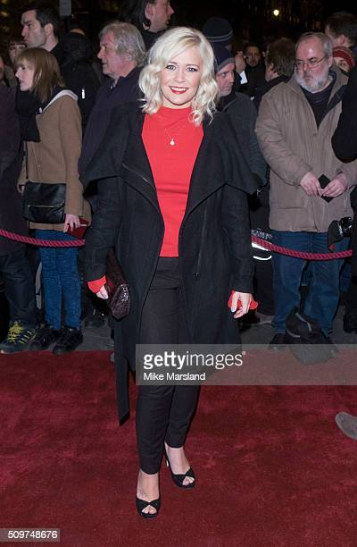 Susanne Shaw attends the World Premiere of 'End Of Longing' written by and starring Matthew Perry at Playhouse Theatre on February 11 2016 in London...