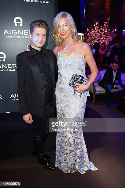 Susanne Sigl and chief designer Christian Beck attend the Bambi Awards 2015 party at Atrium Tower on November 12 2015 in Berlin Germany