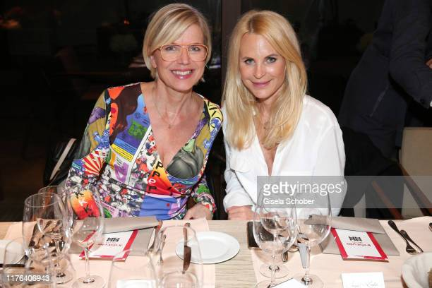 Susanne Sigl and Fashion designer Sonja Kiefer during the InStyle meets RIANI Dinner at Garden Restaurant / Hotel Bayerischer Hof on October 17, 2019...