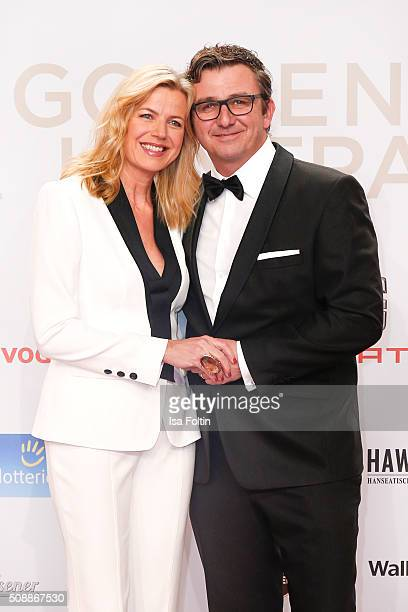 Susanne Sigl and Hans Sigl attend the Goldene Kamera 2016 on February 6, 2016 in Hamburg, Germany.