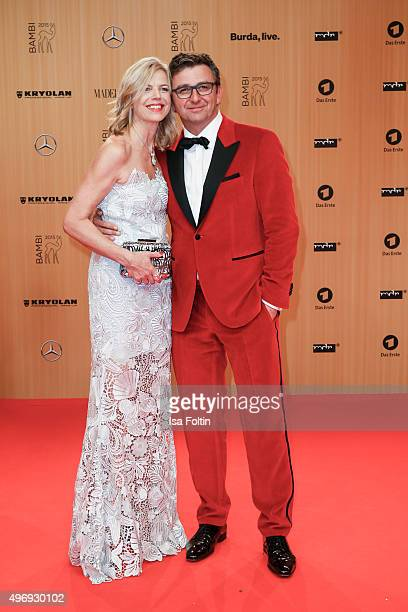 Susanne Sigl and Hans Sigl attend the Kryolan At Bambi Awards 2015 - Red Carpet Arrivals on November 12, 2015 in Berlin, Germany.