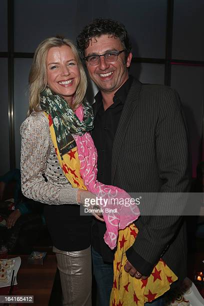 Susanne Sigl and Hans Sigl attend the Ndf Afterwork Party at 8 Seasons on March 20 2013 in Munich Germany