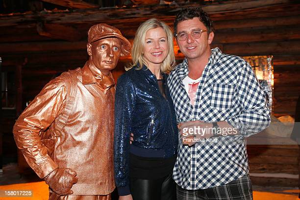 Susanne Sigl and Hans Sigl attends the Tirol Cross Mountain Dorfstadl Evening at Kuehtai Castle on December 08 in Kuehtai Austria