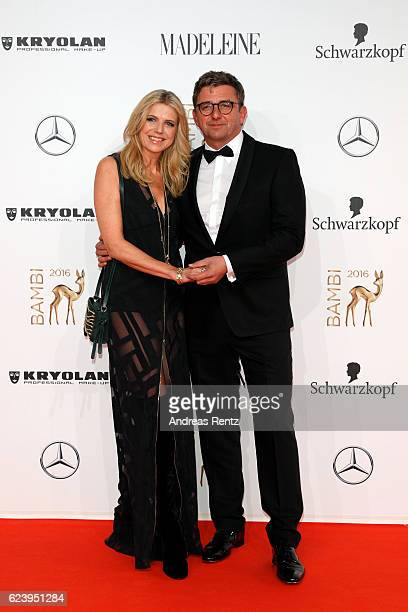 Susanne Sigl and partner Hans Sigl arrive at the Bambi Awards 2016 at Stage Theater on November 17, 2016 in Berlin, Germany.
