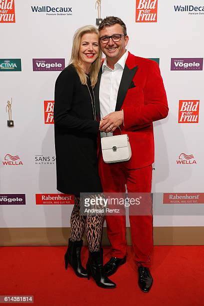 Susanne Sigl and partner Hans Sigl attend the 'Goldene Bild der Frau' award at Stage Theater on October 13, 2016 in Hamburg, Germany.