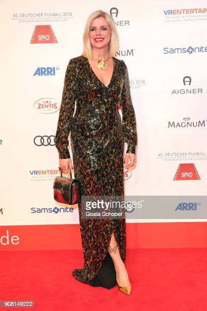 Susanne Sigl during the German Film Ball 2018 at Hotel Bayerischer Hof on January 20, 2018 in Munich, Germany.