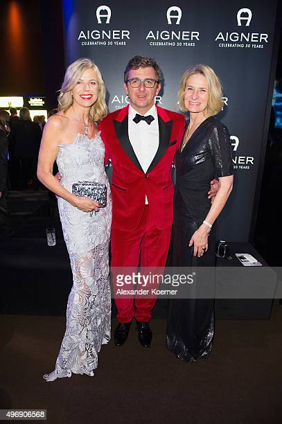 Susanne Sigl Hans Sigl and CEO AIGNER Sibylle Schoen attend the Bambi Awards 2015 party at Atrium Tower on November 12 2015 in Berlin Germany