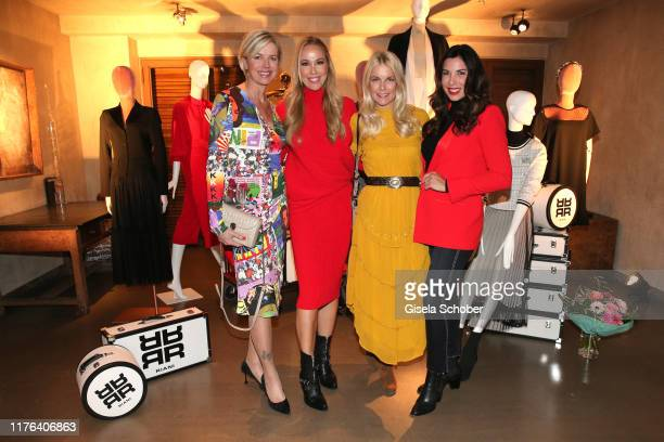 Susanne Sigl, Sylvia Walker, Tina Kaiser and Alexandra Polzin during the InStyle meets RIANI Dinner at Garden Restaurant / Hotel Bayerischer Hof on...