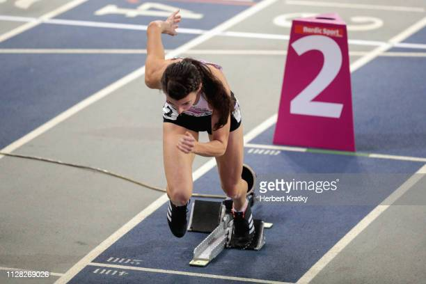 Susanne Walli of Austria competes in the qualification heats of the women's 400m event on March 1 2019 in Glasgow United Kingdom