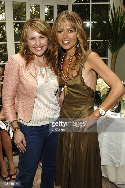 Susanne Wilson and Rachel Zoe Rosenzweig during Moschino 2005 Fall Fashion Show and Luncheon at Chateau Marmont in Los Angeles California United...