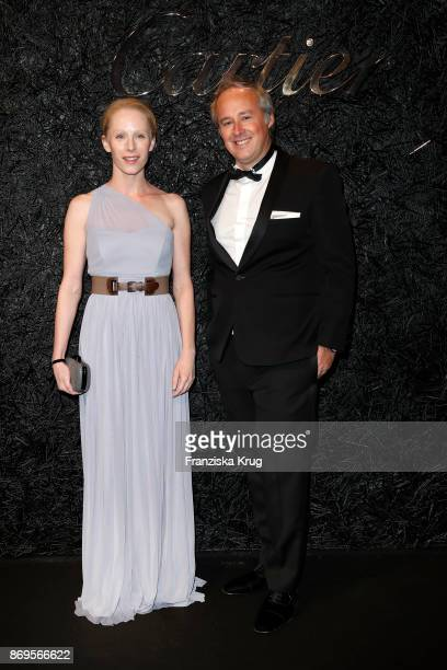 Susanne Wuest and Managing Director Cartier Northern Europe Renaud Lestringant attend the When the Ordinary becomes Precious #CartierParty at Old...