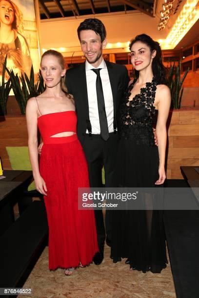 Susanne Wuest and Sabin Tambrea and Violetta Schurawlow during the premiere of 'Der Mann aus dem Eis' at Cinemaxx on November 20 2017 in Munich...
