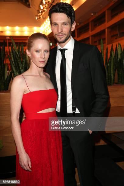 Susanne Wuest and Sabin Tambrea during the premiere of 'Der Mann aus dem Eis' at Cinemaxx on November 20 2017 in Munich Germany