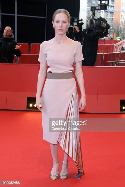 Susanne Wuest attends the 'My Brother's Name is Robert and He is an Idiot' premiere during the 68th Berlinale International Film Festival Berlin at...