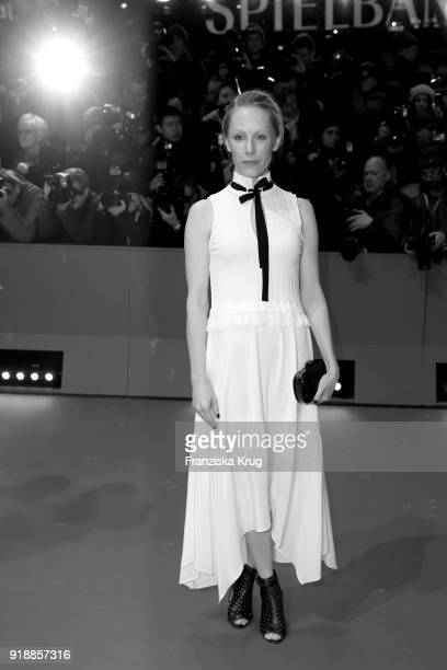 Image has been converted to black and white Susanne Wuest attends the Opening Ceremony 'Isle of Dogs' premiere during the 68th Berlinale...