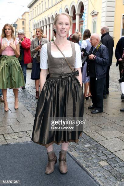 Susanne Wuest during the 'Fruehstueck bei Tiffany' at Tiffany Store ahead of the Oktoberfest on September 16, 2017 in Munich, Germany.