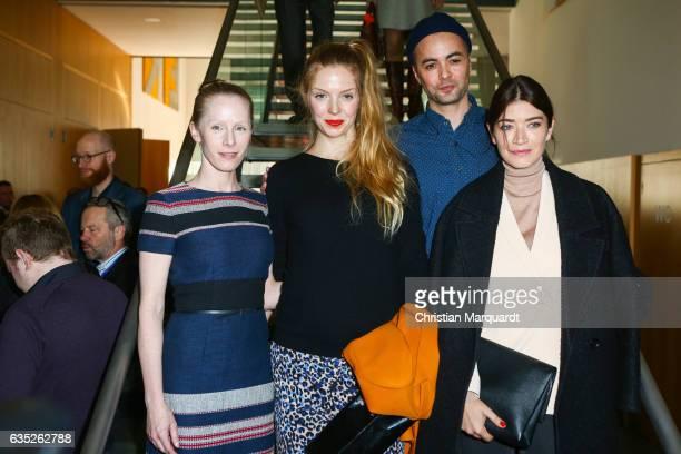Susanne Wuest Pheline Roggan Nikolai Kinski and Anna Bederke attend the Hessian Reception during the 67th Berlinale International Film Festival...