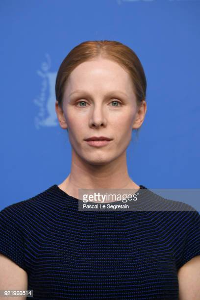 Susanne Wuest poses at the 'My Brother's Name is Robert and He is an Idiot' photo call during the 68th Berlinale International Film Festival Berlin...