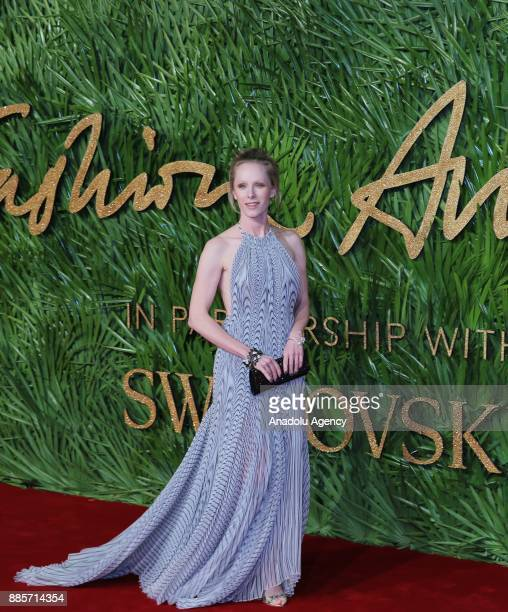 Susanne Wuest wearing a Dress by Iris van Herpen attends 'The Fashion Awards 2017' in partnership with Swarovski held at Royal Albert Hall in London...