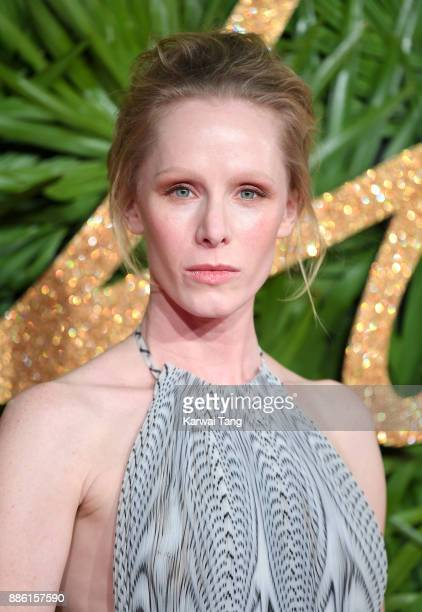 Susanne Wuest wearing a Dress by Iris van Herpen attends The Fashion Awards 2017 in partnership with Swarovski at Royal Albert Hall on December 4...