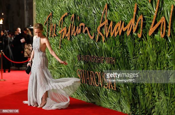 Susanne Wust attends The Fashion Awards 2017 in partnership with Swarovski at Royal Albert Hall on December 4 2017 in London England