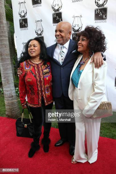 Susaye Greene Berry Gordy and Scherrie Payne attend the 28th Annual Heroes And Legends Awards at the Beverly Hills Hotel on September 24 2017 in...