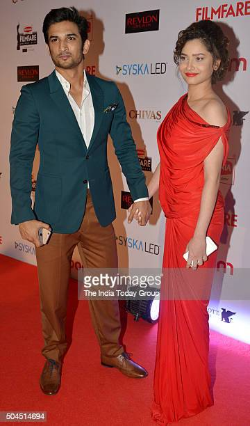 Sushant Singh Rajput and Ankita Lokhande at 61st Filmfare PreAwards Party in Mumbai