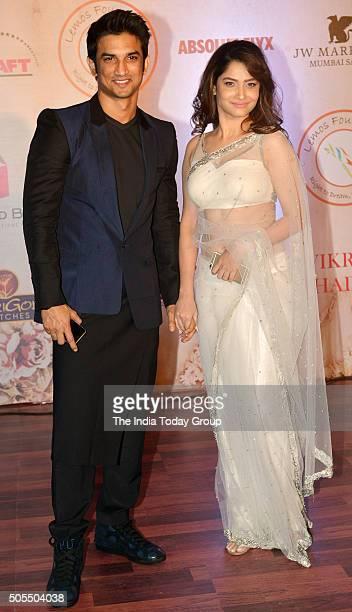 Sushant Singh Rajput and Ankita Lokhande at Vikram Phadniss 25th anniversary fashion show in Mumbai
