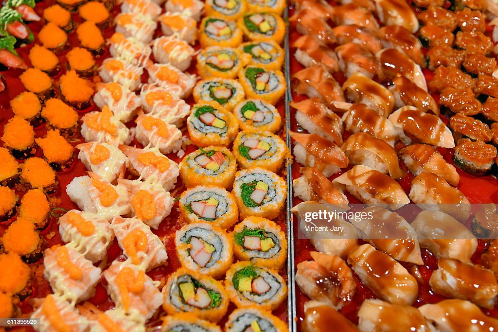 Sushi and maki platters Loy Kratong Bangkok Thailand : Photo