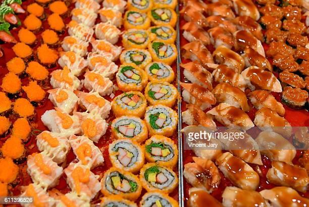 Sushi and maki platters Loy Kratong Bangkok Thailand