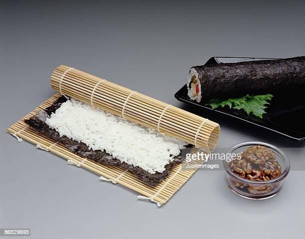 Sushi being prepared