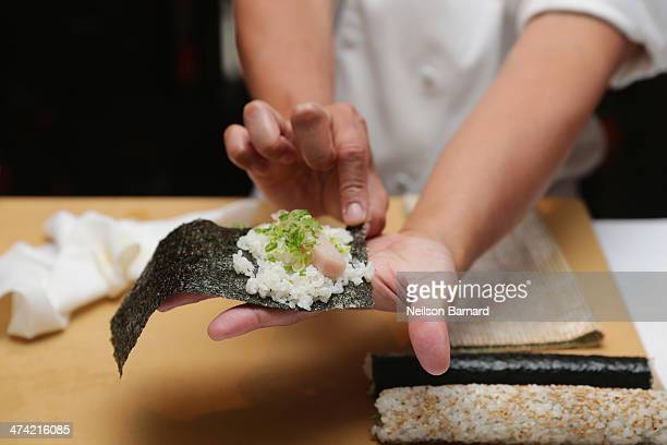 Sushi class at Ultimate Asian Lunch Hosted By Nobu Matsuhisa Hiroko Shimbo during the Food Network South Beach Wine Food Festival at Nobu Miami Beach...