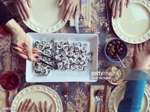 Sushi for Thanksgiving Dinner