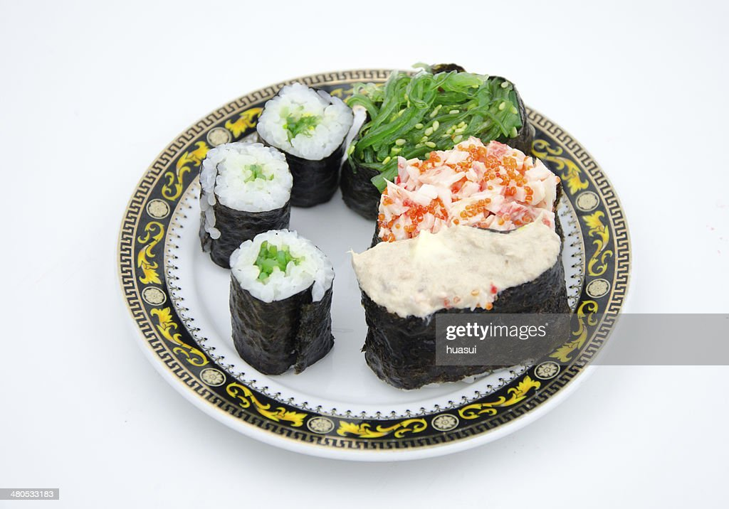 Sushi is popular japanese dish. : Stock Photo