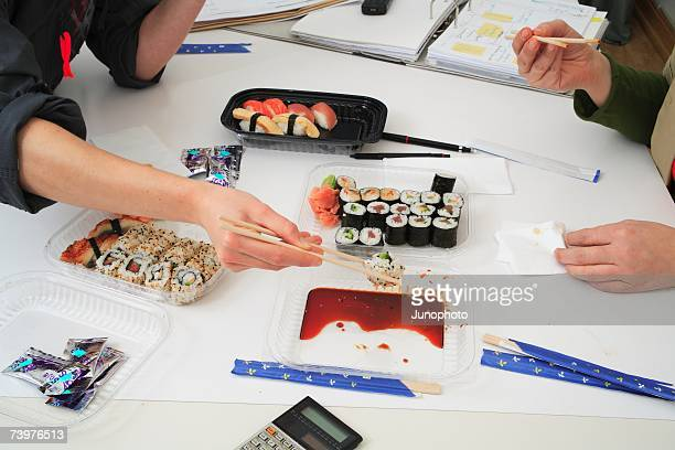 Sushi lunch at work